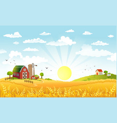 Beautiful landscape with vector