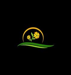 Beauty flower tree nature logo vector