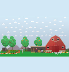 Beekeeping and farming concept vector
