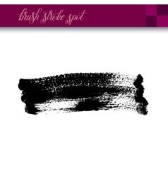 Black ink hand drawing brush strokes spot element vector