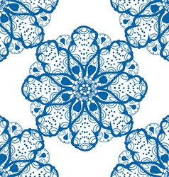 Blue Floral Patterned Background vector