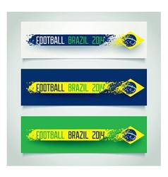 Brazilian grunge banners vector image