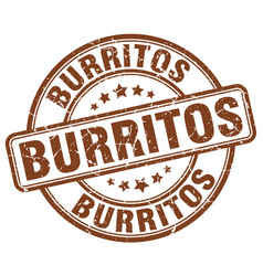 Burritos stamp vector