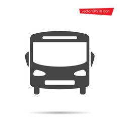 Bus icon school auto isolated on background mode vector