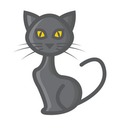 cat filled outline icon halloween and scary vector image
