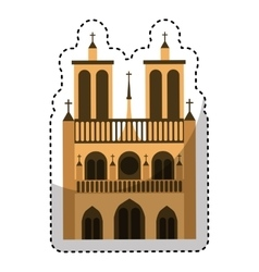 Catedral church isolated icon vector