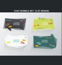 Chat bubble with geometric simple shapes abstract vector