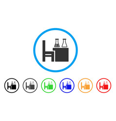 chemical desk rounded icon vector image