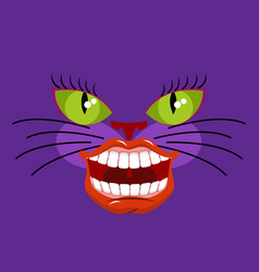 cheshire cat is an animal from alice in vector image