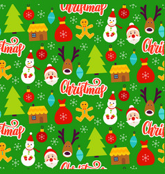 Christmas greeting seamless pattern vector