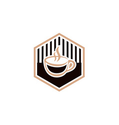 coffee vintage logo vector image