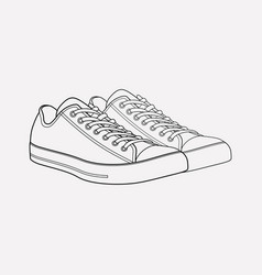 Converse shoes icon line element vector