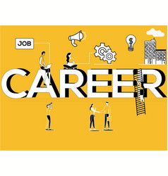 creative word concept career and people doing job vector image