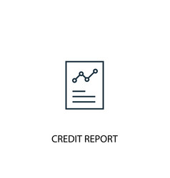 credit report concept line icon simple element vector image