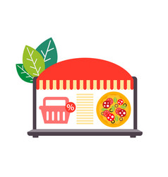 Delivery pizza online shopping discount vector