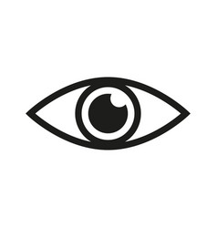 eye icon look and vision icon eye icon vector image