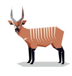 Flat geometric bongo antelope vector
