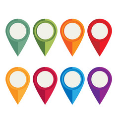 flat icons location pointer for web mobile and vector image