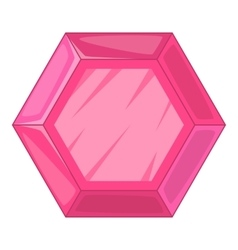 Gemstone icon cartoon style vector