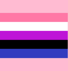 genderfluid flag rectangular shape icon vector image