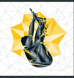 geometric crossfit concept vector image