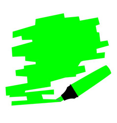 Green marker copy space vector
