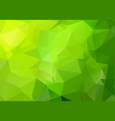 green polygonal mosaic background geometric vector image