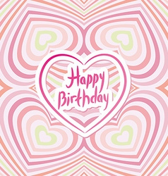Happy Birthday Card Pink abstract background vector image