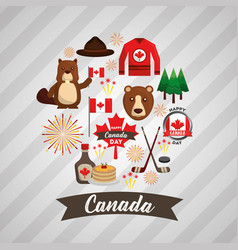 Happy canada day vector