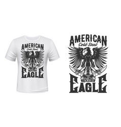 heraldic eagle and crossed daggers t-shirt print vector image