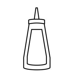 ketchup sauce bottle vector image