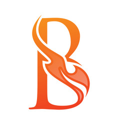 letter b fire life icon in abstract style vector image