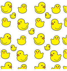 little duck pattern on a white background vector image