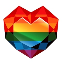 Love wins Rainbow Heart vector