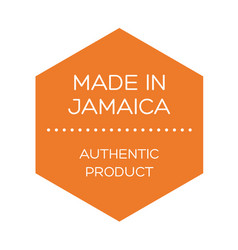 Made in jamaica label on white vector
