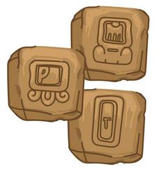 Maya alphabet mayan civilization culture science vector