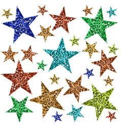 multicolored stars vector image