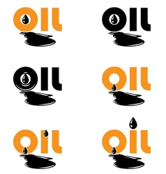 oil drop logo template vector image