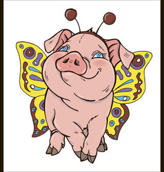 pig in fancy dress vector image