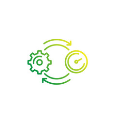 Productivity line icon on white vector