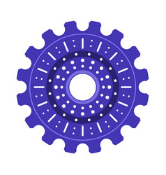 Purple gear wheel or cog vector