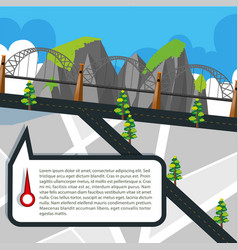 Road map with roads and bridge vector