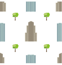 seamless city background with modern houses vector image