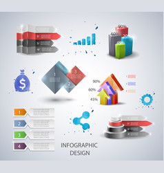 set design elements for infographic or vector image