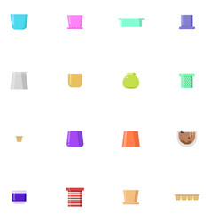 set of flower pots isolated vector image