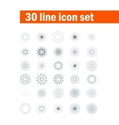 Set of thirty angular abstract icons vector