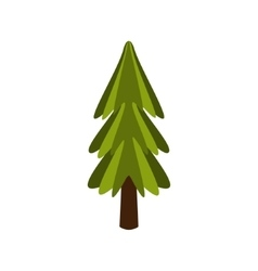 Standalone Fir Tree Camping And Hiking Outdoor vector image vector image