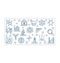 Stem concept minimal linear banner vector