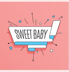 Sweet baby retro design element in pop art style vector