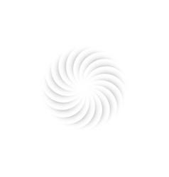 swirl logo round flower paper cutting mandala vector image
